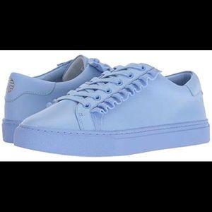 Tory Burch Blue Ruffled Sneakers